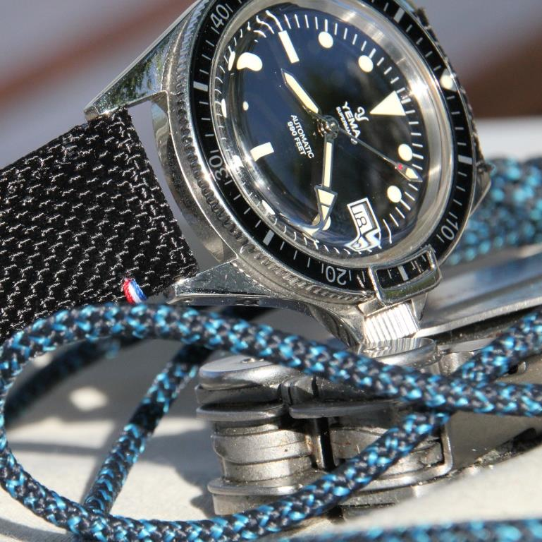 detail du bracelet Tampa noir